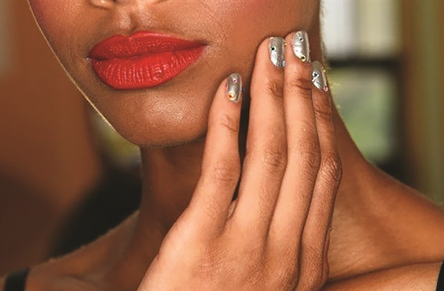<p>Nails by Eichi Matsunaga for Morgan Taylor</p>