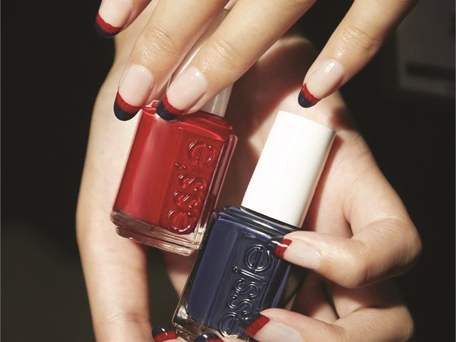 <p>Nails by Alicia Torello for Essie</p>