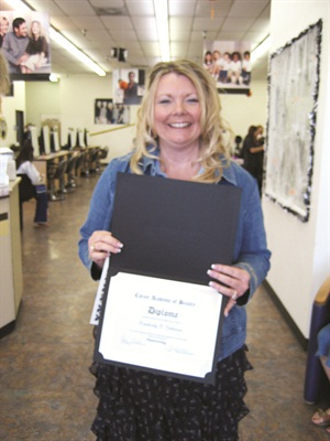 <p>Recent graduate, Kimberly Johnson, Accent on Nails, Laguna Niguel, Calif.</p>