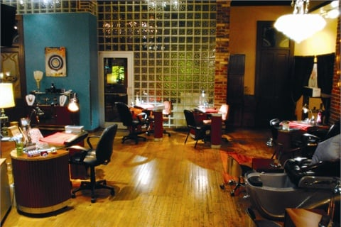 Clients enjoy the aged textures and creative accents throughout the salon, as well as the positive nail tech team and unique services.