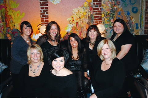 <p>After lots of searching, owner Heather Hall-Williams (center) was finally able to build a solid team of techs who share her love for nails and education, as well as dedication to providing the best services possible.</p>