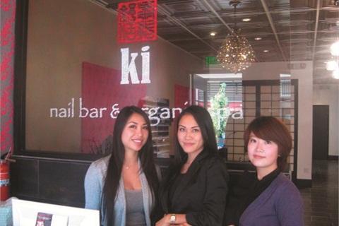 <p>Manager Esther Ton, owner Fawn Ton, and nail tech Mia Yang all work at both Ki and Chi.</p>