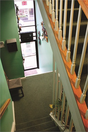 <p>. Once inside, customers enter a narrow hallway and climb a flight of stairs before they find Patsy's Nail Bar.</p>