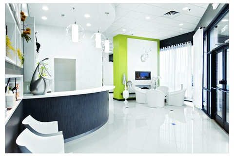 When clients enter, they note white floors, minimalist decor, soft relaxing music, and scents infused in the air.