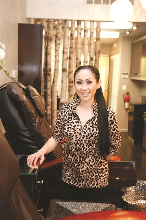 Cammy Nguyen, daughter and niece of a pair of manicurist sisters, grew up immersed in the nail industry. She opened Blossom Beauty Lounge in Redondo Beach, Calif., in April 2012.