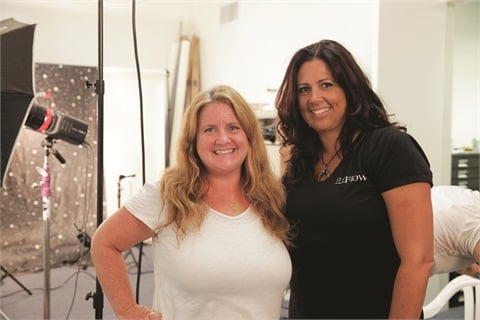 <p>Cover tech Allie Baker-Bennett (right) was no stranger to NAILS. Shown here with NAILS editor Hannah Lee, she placed in the number-one spot on the NAILS Top 25 List in 2012.</p>