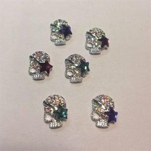 4. Designer Nail Supply: 3-D skulls
