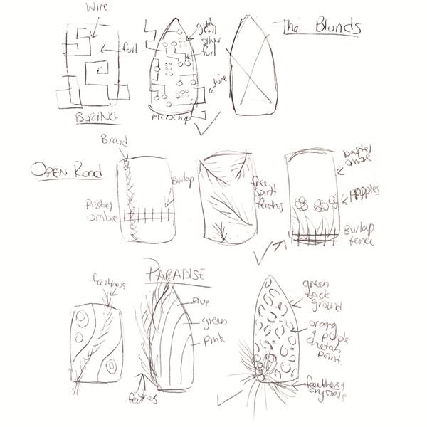 <p>Sketch by Julie Ventura, Bliss Hoboken, Union City, N.J.</p>