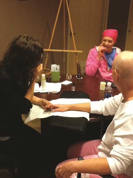 Nail tech Julie Bach, owner of the Jhana Center in Eagle, Colo., and founder of non-profit Spa4thePink, provides gift cards for individuals undergoing cancer treatment or in survivorship.