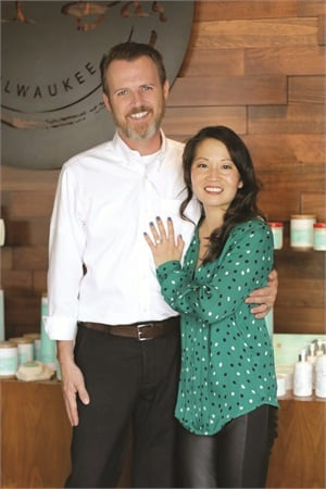 <p><em>With help from husband Steve Harrington, Soo was able to build the salon she envisioned.</em>  </p>