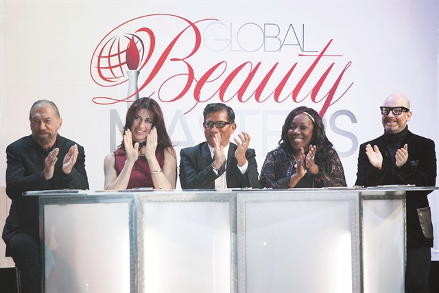 <p>Amy Becker (second from left) is one of the finale judges.</p>