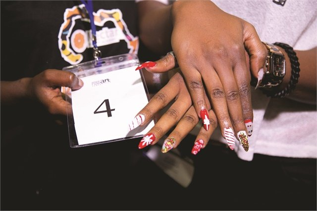 Nail art competition held in nigeria style nails magazine competitors had two to three hours to complete a set with tips and acrylics and then decorate them with orly instant artist and embellishments explains prinsesfo Images