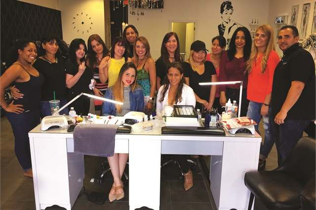 VBP Worldwide president David Anthony brought Vetro educator Michelle Soto to Polished Nail Bar Davie for a day of demos and product education.