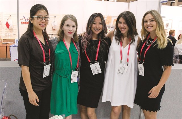 <p>Me and the current editorial team at <br />Cosmoprof 2017.</p>