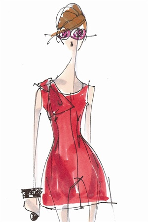<p>Illustration by Peter Som. Originally appeared in The Pantone Fashion Color Report Spring 2011.</p>