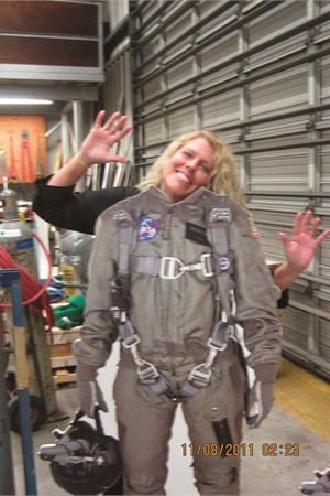 <p>There's time to goof around a bit during the behind-the-scenes tour.</p>