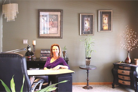 Having a home-based salon allows Michele Carroll to provide personalized nail services in a professional and peaceful setting.