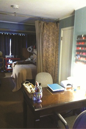 <p>Lori Tomancik's home-based salon has outgrown its space, taking up the whole of the downstairs living area.</p>