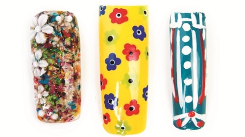 Nails by (left to right): Marcia Burtlow, Curlz, Clipx, & Tipz, Nampa, Idaho; K. Abercrumbie-Gathers, Portable Polish Mobile Nailcare, Charlotte, N.C.; Elizabeth Fernandes, vlsnails, Boston