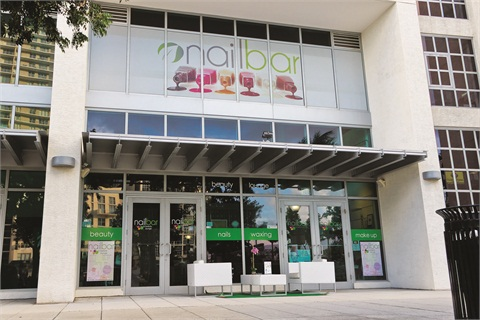 The salon is located in one of Miami's trendiest locations.