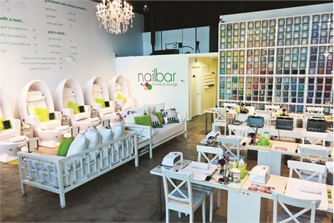 <p> Egg-shaped pedicure stations offer customers luxury salon services.</p>