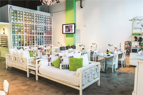 <p>The bright colors and openness of NailBar and Beauty Lounge create a modern and cheerful ambiance</p>