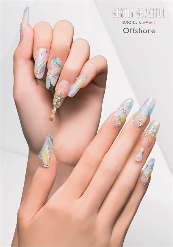 Gentleness and calm are illustrated with this ethereal design.