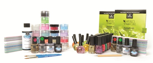 INM provided generous prize packages to this year's winners that included an assortment of lacquers, top coats, and treatments for the handpainted winner, and colored acrylic powers for the mixed-media winner.