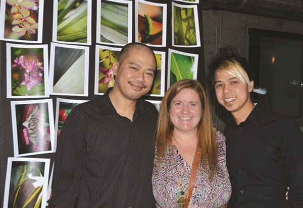 <p>NAILS editor Hannah Lee (seen here flanked by Vu and Robert Nguyen) rubbed elbows with OPI's most innovative nail artists.</p>