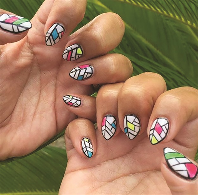 <p>Red Betty attracts many out-of-towners who want show off unique and colorful manicures at Austin music festivals.</p>