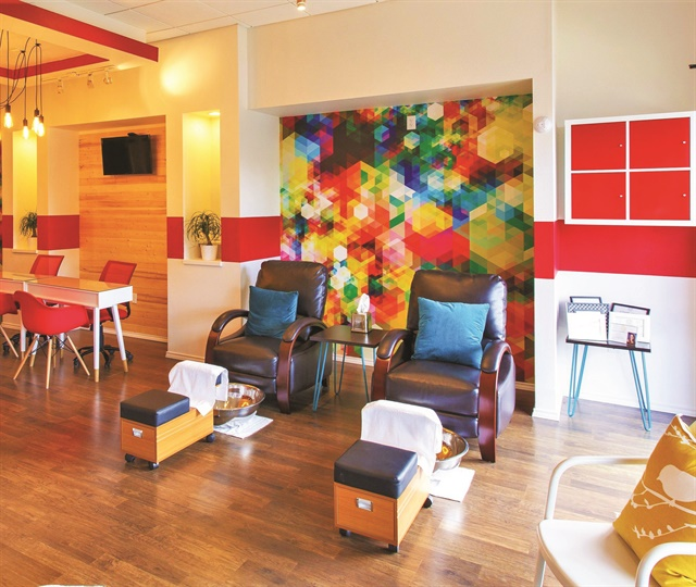 "<p>While designing the salon's decor, Williams drew inspiration from ""all over the place"" and purchased the wallpaper from an online shop called Flavor Paper.</p>"
