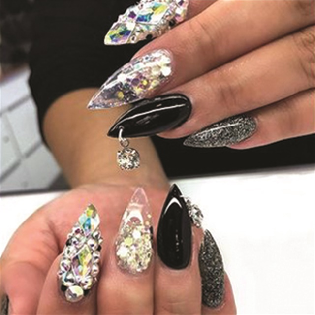 Fountain Valley, Calif.'s Black File uses a lightbox to capture awesome nail art selfies.