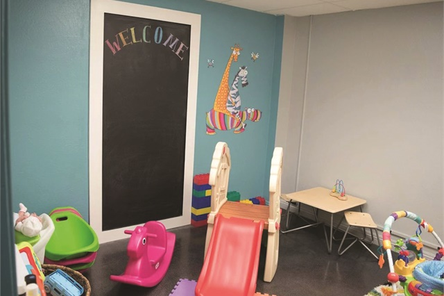<p>The salon offers free CPR-certified supervision for moms or dads with children in an effort to give busy parents a space to truly relax.</p>