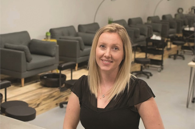 "Jen Carr says she ""took a leap of faith"" when she opened the salon, which she did without any formal training or a business plan."