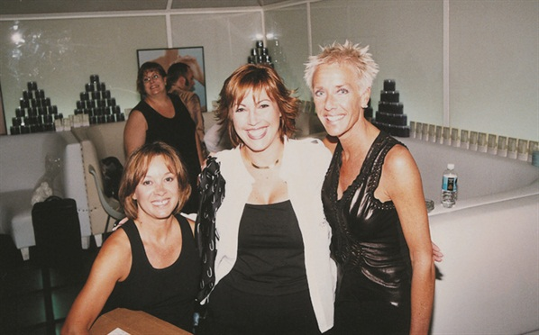 <p>That's me (left), Jacquie Correa, and Jan Arnold relaxing at the Spa afterparty.</p>