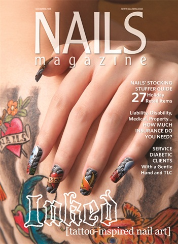 <p>his October 2010 NAILS cover, where he did tattoo-inspired nail art.</p>