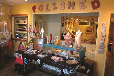 <p>The owners of Polished Lounge in San Francisco are antique collectors and incorporate their finds into the salon's decor.</p>