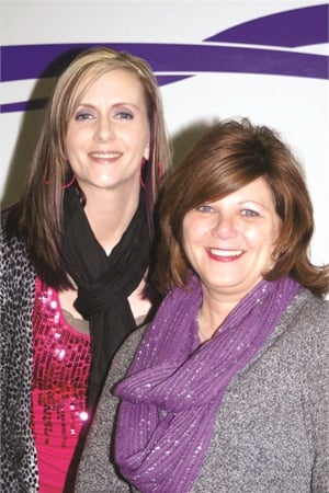Beyond Nails owner Sandi Tomlinson (right) still employs Kristie Stephens, her first apprentice from eight years ago.