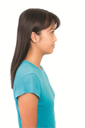 <p>Neck stretch: Stand with your shoulders straight. Breathe freely.</p>