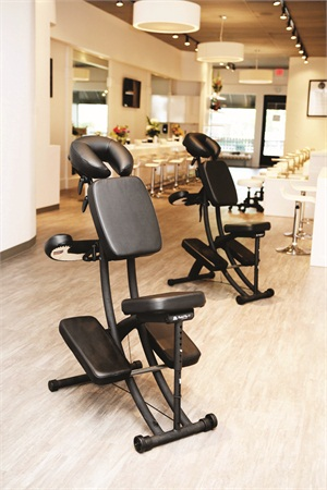 """<p>Chair massages, priced at $1 per minute, focus on the neck and shoulders. Full-body, or """"fullsage,"""" massages are offered as well.</p>"""