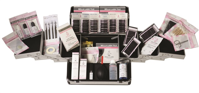 Bella Lash's training consists of a rigorous two-day program of theory and application. Their kits contain all the lashes and tools you need to get started and come in beautiful, durable carrying cases. Available in a small size training kit, a large kit, and a platinum kit. www.bellalashextensions.com