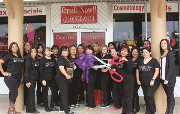 <p>The Beauty Point Academy celebrated the grand opening of NSI Academy in December at its facility in San Antonio, Texas. Among those in attendance were The Beauty Point Academy owner Mrs. Cantu and her daughter Gracie King.</p>