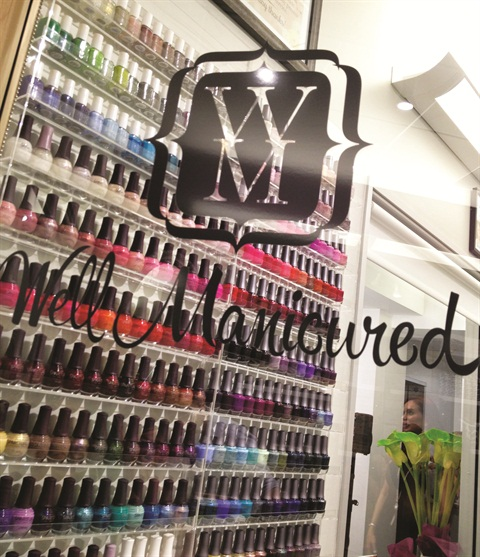 Clients can choose from just about any color polish under the sun.