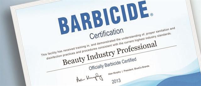 barbicide salon certified safe sanitation rules services health kit course might
