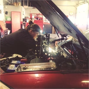 Girls Auto Clinic has an all-female staff of mechanics.