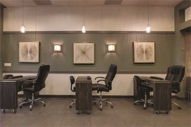 Irwin opted for a neutral color palette, but has plans to renovate the salon's decor with a more modern, Spanish feel by mid-2017.