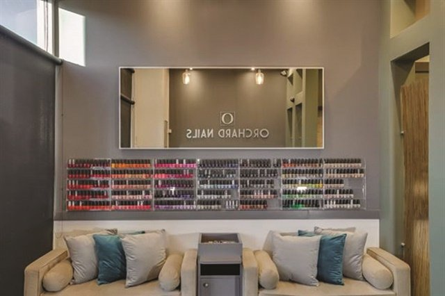The salon offers a wide selection of OPI polish.