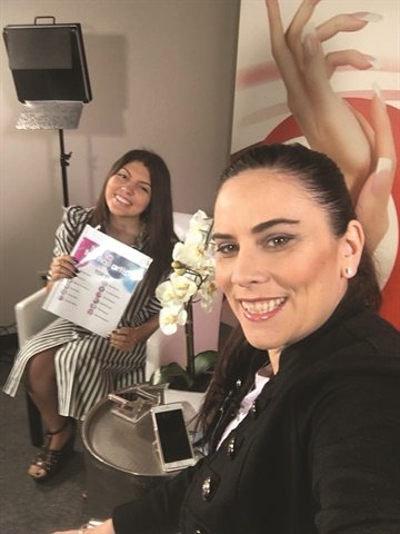 <p>Me (left) and Elaine before our first live recap show.</p>