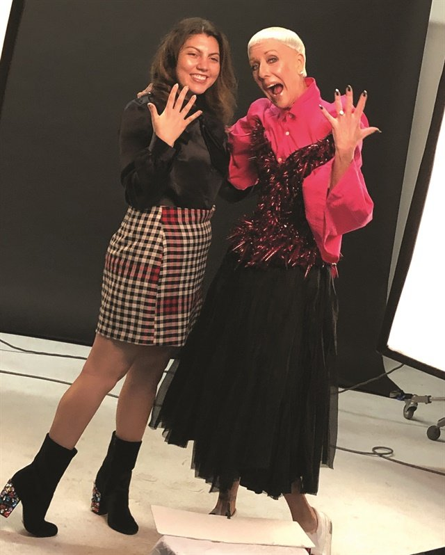 <p>NAILS executive editor Beth Livesay poses with CND co-founder and style director Jan Arnold.</p>