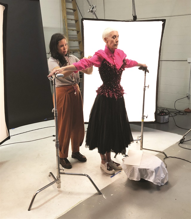 <p>The one-of-a-kind corset was made by The Blonds.</p>